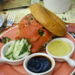 Plain Bagel Japanese style wild salmon
