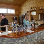 Another view of the tasting bar - owners are behind the counter