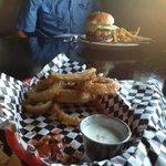 rings and burger