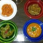 Entrada do jantar no Laaroussa