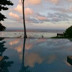 Infinity pool with an insane sunset view.