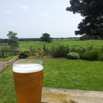 Nice view on a sunny day from the beer garden