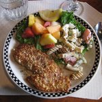 Nut crusted snapper