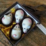 Easter mice with wonderful chocolaty insides