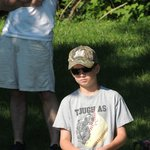 My son loves to fish!