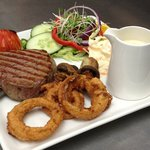 Fillet Steak - cooked to Medium served with a Stilton Sauce