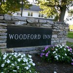 The Woodford Inn sign.