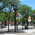 Outside Downtown Chatham Centre is King Street Commons - a popular area for live music & events