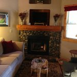 Living Room w/Satelite TV and Fire place