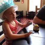 More tea party fun with her Papa