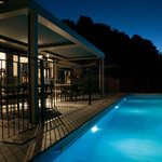 Villa 1 pool by night
