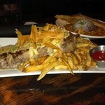 Steak nd frites, with a whiskey garlic sauce, cuts like butter. fantastic flavor
