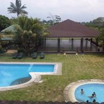Swimming pools and outdoor activity area