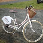 One of their bikes, not all were girly, but this was cute.