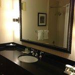 nicely updated spacious bathroom