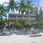 Our room top right corner in Aitutaki Block.