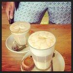 My cafe latte & macaroon latte