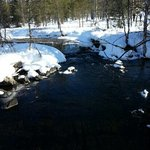 scenic winter trail in yllas lapland