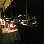 cena dal ristorante sullo sfondo Amalfi