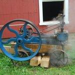 Portable Steam Engine Cranking The Ice Cream Maker
