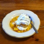 Fresh Peach Shortcake (It is a buttermilk biscuit, for those expecting