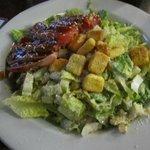 Caesar salad with ahi tuna