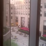 View from our room out to Rockefeller Ctr