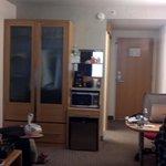 refrigerator, microwave, closet