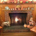 Jesse Camille's cozy fireside dining