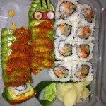 caterpillar roll and hamachi roll