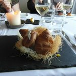 Bird's Nest starter, Wilde's Restaurant at Lisloughrey Lodge