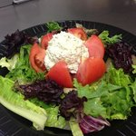 Blooming Tomato with Chicken Salad