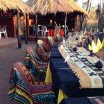group dinner setting