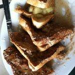 apple cinnamon sugar stuffed french toast