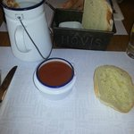 Soup and fresh bread