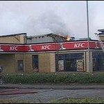 KFC burning but back in excellent condition in a month