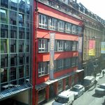 Close proximity hostels and busy downtown street