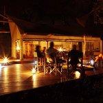 Evening fireside