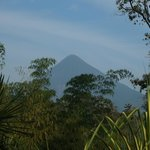 A view from the patio on the hotel of Mt Arenal