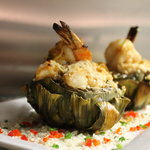 Stuffed Artichoke with Shrimp and Lemon Butter (NEW for the 2013 Summer Menu!)