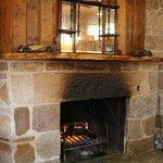 Fireplace, Stables Restaurant, Oatlands Tasmania