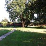 Zona del jardín donde se celebró la ceremonia matrimonial