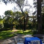 Jardín donde se dió el aperitivo a los invitados