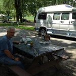 Me and Grandpa at the campsite