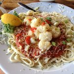 Linguine with Marinara and Scallops