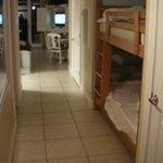 hall with bunks