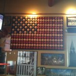 American Flag made with baseballs! great idea Red Robin!!!