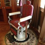 Old dental chair in dining room