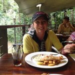 Fish and chips sitting in the rainforest....