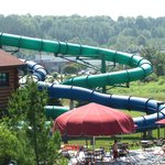 The tube water slides!!